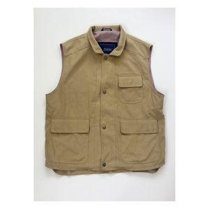Herno Italian men's beige vest 54 XL